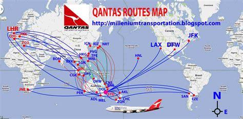 qantas route map 2013