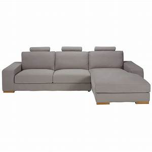 canape d39angle droit 5 places en tissu taupe daytona With canapé d angle 5 places tissu
