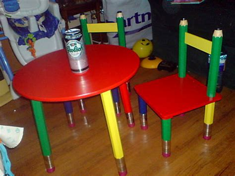 pencil table chairs at words pictures