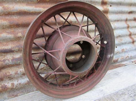 Antique Car Rim Wheel Wire Style Rim 1920s Or 1930s Era Truck