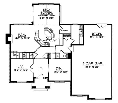 behlmann arts  crafts home plan   house plans