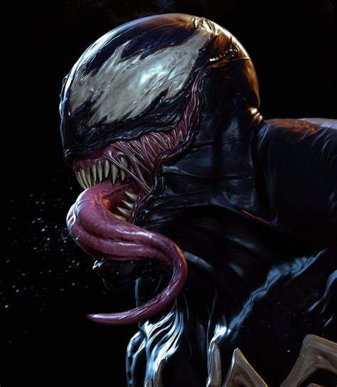 Venom By Andy Chin  Venom  Pinterest  Venom, Marvel And