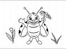 Malvorlagen Insekten, Schmetterlinge, Käfer Lustige