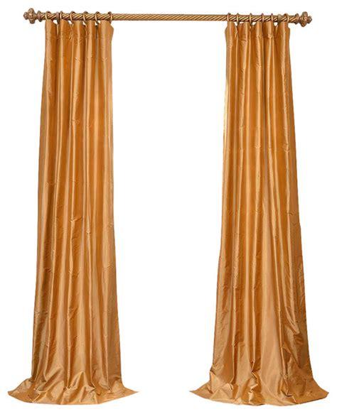 dupioni silk single curtain panel gold 50 quot x96