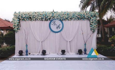 outdoor wedding stage decoration  rkn beach resort