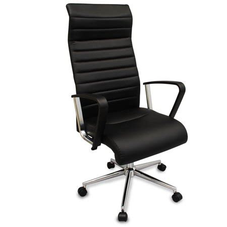 Office Chairs Neck Support by Bodymade High Back Executive Ribbed Office Chair With