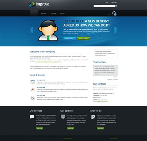Free Css Templates Professional Template Improve Free Css Templates