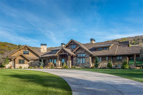 luxurious mountain ranch home plan   level expansion rw architectural designs