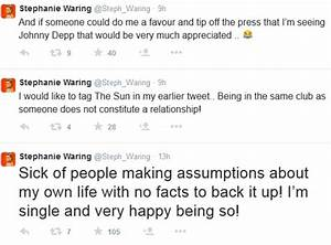 Stephanie Waring denies claims she is dating footballer ...