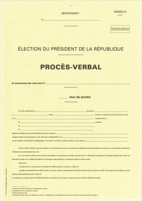 procès verbal du bureau de recensement général du