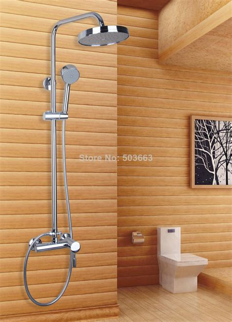 modern bathroom wall mount rain shower head  set