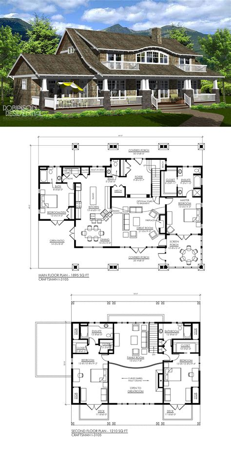 Craftsman I 3105 in 2020 Sims house plans House