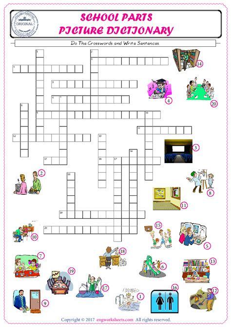 school crosswords  kids printable brackets