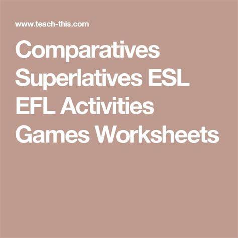 comparatives  superlatives  images esl lessons