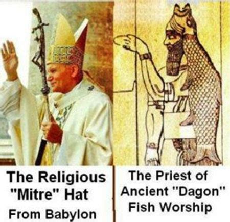 why is the pope 39 s mitre shaped like a fish