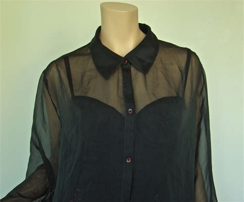 s sheer blouses sheer blouse green plus size 1990 39 s