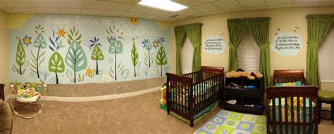 mural   church nursery preschool room ideas church