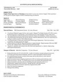 resume for supply chain manager supply chain resume exles source