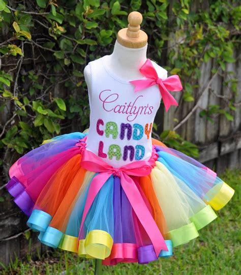 Candyland Rainbow Ribbons Elegance Tutu Set Crafts