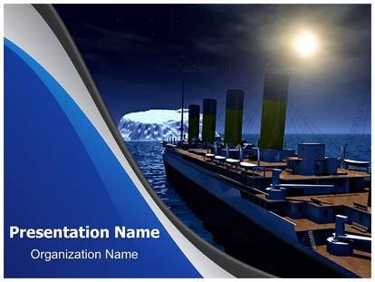 titanic concept powerpoint template background
