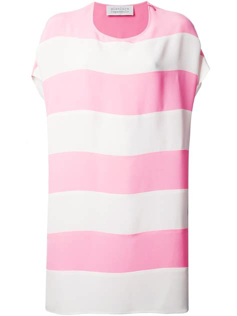 lyst gianluca capannolo striped tshirt dress  pink