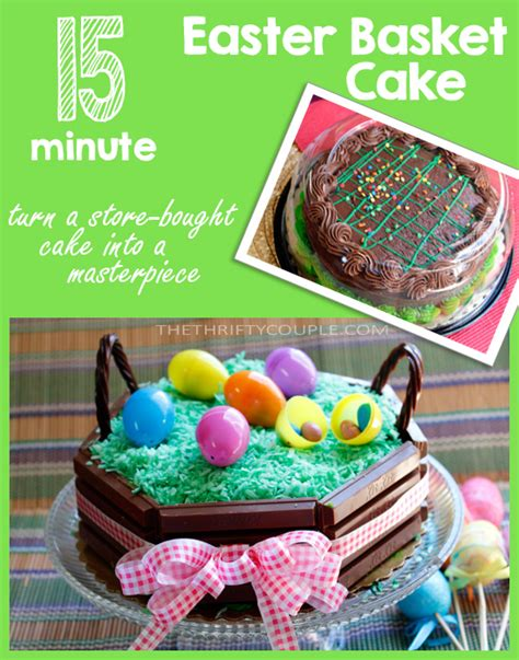 minute easter basket cake   kitkat candy bars
