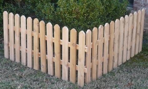 12 Ft New All Cedar Wood Fence Decorative Garden Fencing