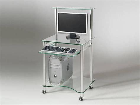 scrivanie computer scrivania per computer in vetro compact