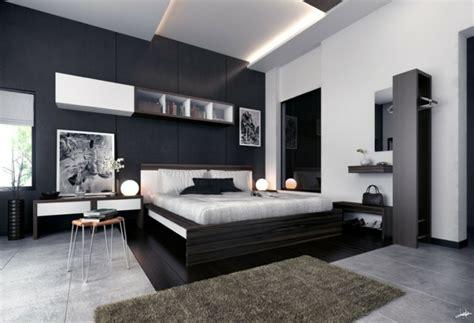 chambre gris noir déco noir et blanc chambre à coucher 25 exemples élégants