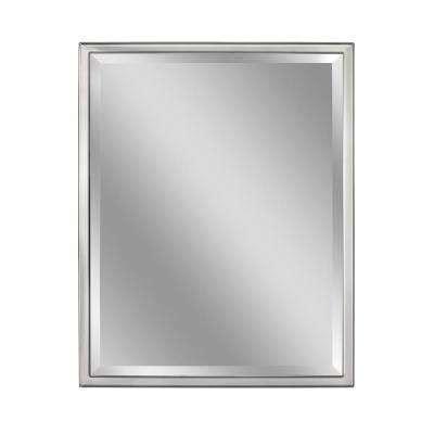 Bathroom Mirrors Chrome by Chrome Bathroom Mirrors Bath The Home Depot