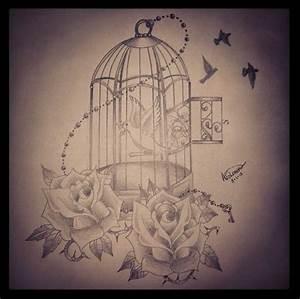 bird cage tattoo | Tattoo | Pinterest | Tattoo drawings ...