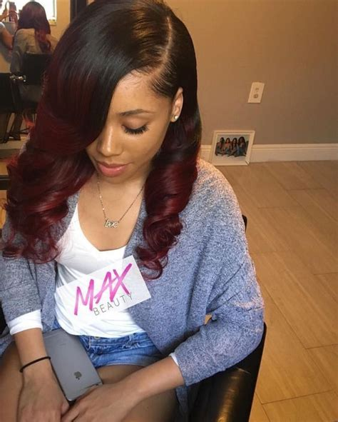 18 Inch Sew In Hairstyles by 8a Malaysian Hair Burgundy Wave Weave Weft 3 Bundles