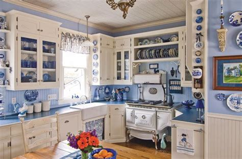 blue and white country kitchen c dianne zweig kitsch n stuff decorating your vintage 7928