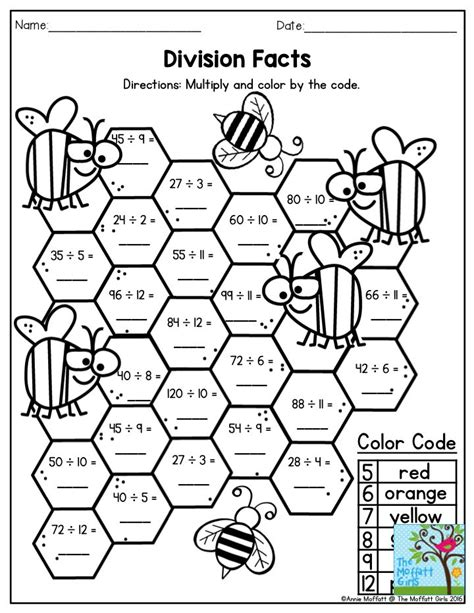fun filled learning math division worksheets