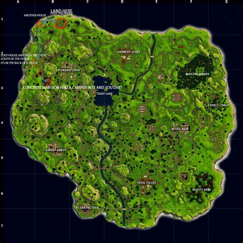 map route  lots  loot