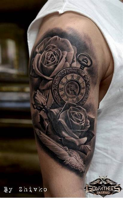 Grey Tattoo Tattoos Realistic Godfathers Galerie