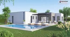 maison toiture terrasse plain pied maisons ideales With site de plan de maison 11 terrasse