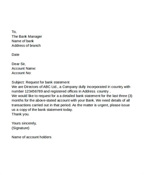 letter apply bank statement fresh essays