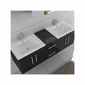 meuble double vasque ref dis1500n With meuble 2 vasques salle de bain