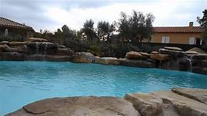 Piscine Avec Cascade : piscine cascade rochers naturels youtube ~ Premium-room.com Idées de Décoration