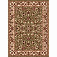 home depot rugs Tayse Rugs Sensation Green 6 ft. 7 in. x 9 ft. 6 in ...