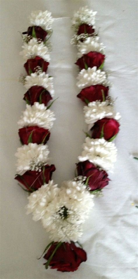 wedding garland simple  elegant wedding mala indian