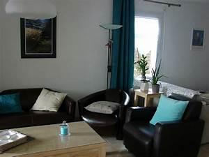 emejing salon bleu turquoise chocolat pictures With palette de couleur turquoise 6 decoration salon bleu turquoise