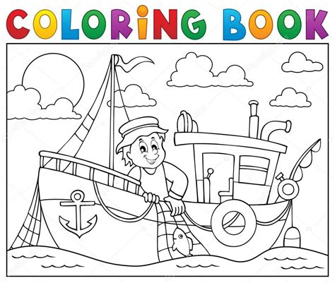 Tekne Boyama by Boyama Kitabı Ile Balık 231 ı Tekne Tema 1 Stok Vekt 246 R
