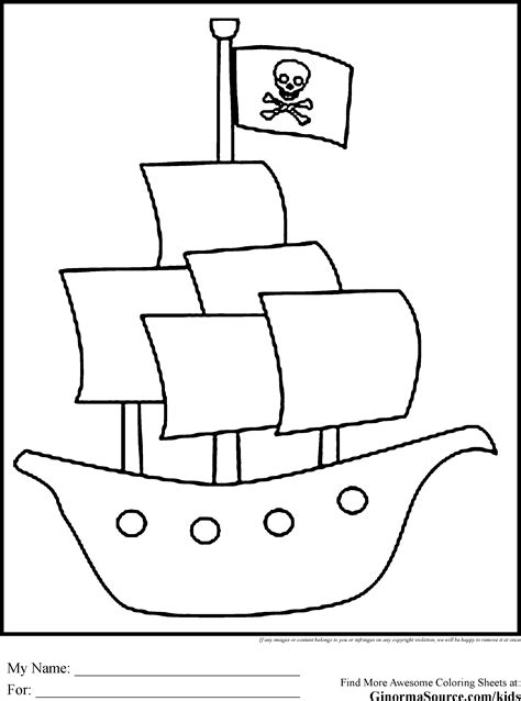 pirate ship coloring pages    print