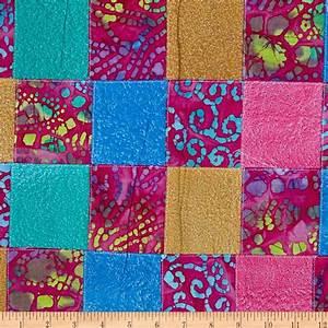 Indian Batik Pre-Sewn Patchwork Pink - Discount Designer