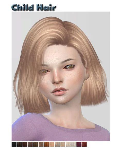 sims  ccs   child hair  shojoangel