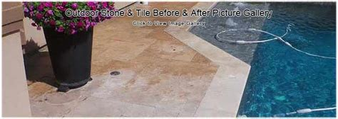 pool tile cleaning outdoor patio tile restoration in
