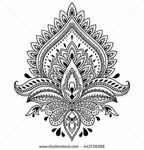 oblong mandala coloring page | Henna tattoo flower ...