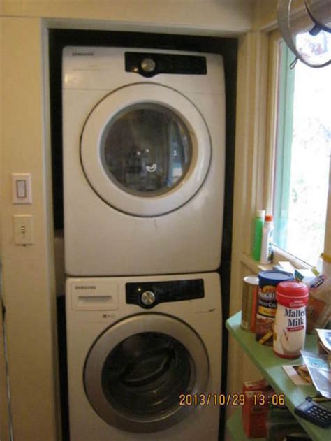 depth of closet for washer dryer